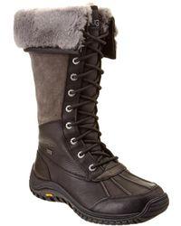UGG Women's Adirondack Waterproof Leather Tall Boot - Black