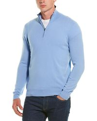 Phenix Cashmere 1/4-zip Pullover - Blue
