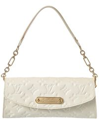 Louis Vuitton - White Monogram Vernis Leather Sunset Boulevard - Lyst