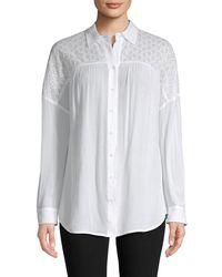 Rebecca Minkoff Eyelet Embroidery Shirt - White