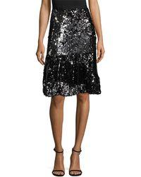 Manoush Trash Sequin Skirt - Black