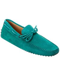 Tod's Tod?s Gommino Suede Loafer - Green
