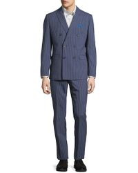 CALVIN KLEIN 205W39NYC - Striped Double-breasted Wool Suit - Lyst