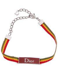 Dior Silver-tone Rasta Ribbon Bracelet - Metallic