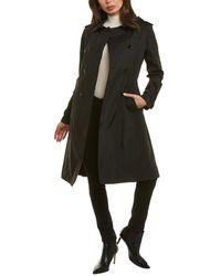 Jane Post Trench Coat - Black