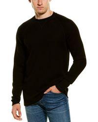 Benson Thermal Crewneck Wool-blend Sweatshirt - Black