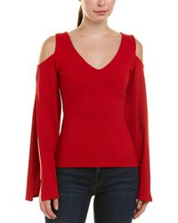 Susana Monaco Cold-shoulder Top - Red