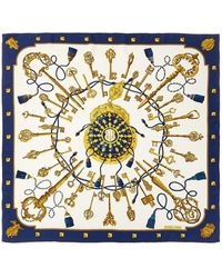 """Hermès """"les Cles,"""" By Caty Latham Silk Scarf - Multicolor"""