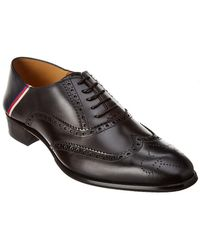Gucci Brogue Leather Oxford - Black