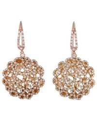 Roberto Coin 18k Rose Gold 2.25 Ct. Tw. Diamond Earrings - Metallic