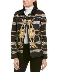 Burberry Scarf Print Quilted Jacket - Black
