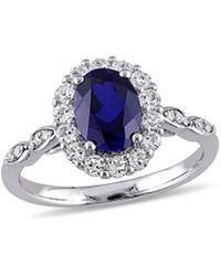 Rina Limor 14k 2.83 Ct. Tw. Diamond & Sapphire Ring - Blue