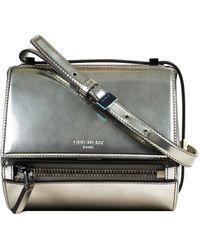 Givenchy Pandora Silver Patent Leather - Metallic