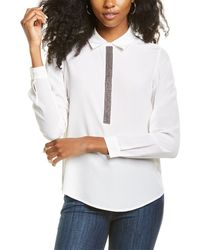 Go> By Go Silk Go By Go>silk Metallurgy Silk Blouse - White