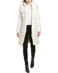 Laundry by Shelli Segal Fitted Puffer Coat - White