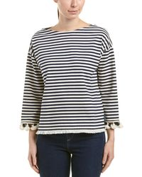 Moncler Striped Sweater - Blue