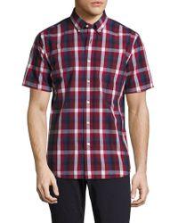 Jack Spade - Caulfield Trim Fit Plaid Sport Shirt - Lyst