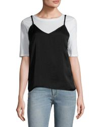 Lucca Couture Washed Satin Camisole - Black