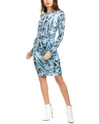 Elie Tahari Liora Sheath Dress - Blue