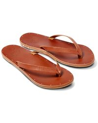 Beek Seabird Leather Flip Flop - Brown