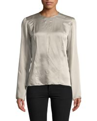 Narciso Rodriguez - Georgette Silk Blouse - Lyst