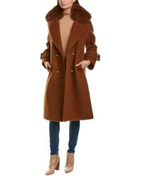 Trina Turk Alpaca & Wool-blend Coat - Brown