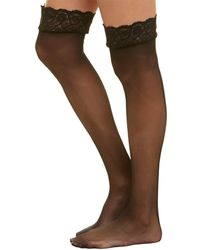 2aa18d3d16 Lyst - Commando  the Sexy  Thigh High Stay-up Stockings in Black
