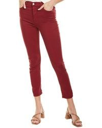 7 For All Mankind 7 For All Mankind Merlot High-rise Ankle Skinny Leg Jean - Red