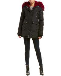 Nicole Benisti Melrose Leather-trim Down Coat - Black