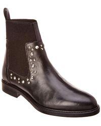 Karen Millen - Studded Chelsea Leather Bootie - Lyst