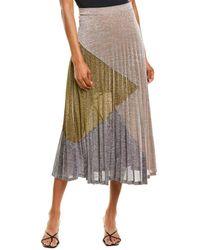 Suboo Luna Pleated Skirt - Metallic