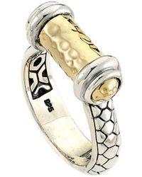Samuel B. 18k & Silver Ring - Metallic