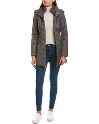 Laundry by Shelli Segal Quilted Coat - Grey