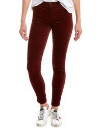 J Brand Maria Oxblood High-rise Skinny Leg - Red