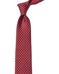 Ferragamo - Red Gancini Silk Tie - Lyst