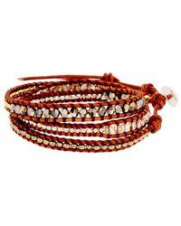 Chan Luu Silver Gemstone & Crystal Wrap Bracelet - Metallic