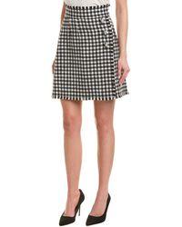 Dolce & Gabbana Fringe Wool-blend Skirt - Black