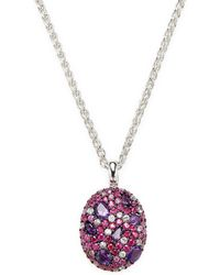 Effy - Sterling Silver Amethyst, Ruby & Pink Sapphire Pendant Necklace - Lyst