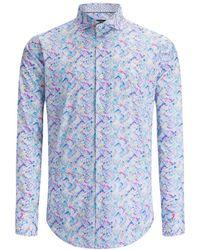 Bugatchi Shaped Woven Shirt - Blue