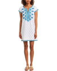 Sulu Collection Shift Dress - White