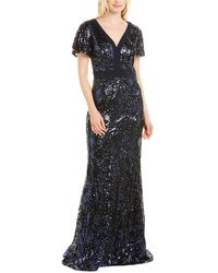 Carmen Marc Valvo Gown - Blue