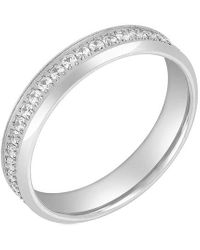 Adornia Stainless Steel Eternity Ring - Metallic