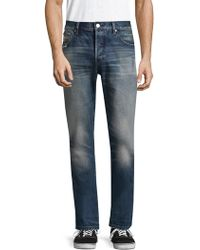 Earnest Sewn - Bryant Cotton Slouchy Slim Jeans - Lyst