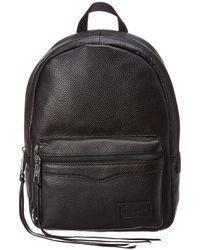 Rebecca Minkoff Medium Zip Leather Backpack - Black