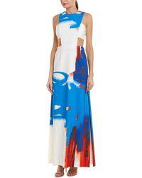 MILLY Cutout Maxi Dress - White