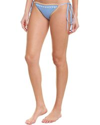 Shoshanna Swimwear Crochet Bikini Bottom - Blue