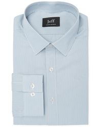 JEFF Clifton Bold Vintage Stripe Dress Shirt - Blue