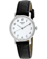 Tissot - T109.210.16.032.00 Everytime Stainless Steel And Leather Watch - Lyst