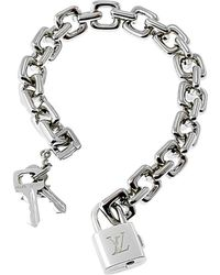 Louis Vuitton Louis Vuitton 18k Padlock Charm Bracelet - Metallic