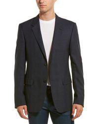 Lanvin Evolution Wool Suit Jacket - Blue